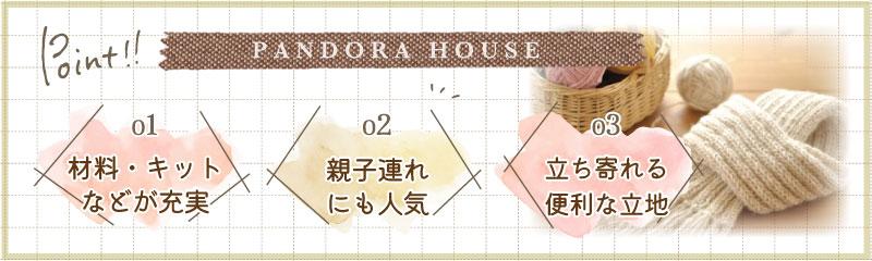 Pandora Houseの特徴