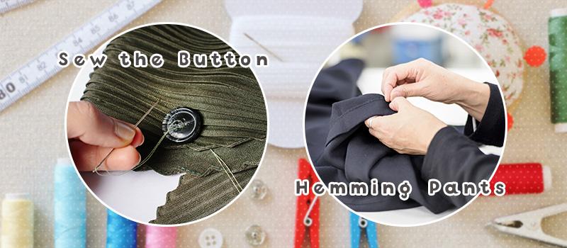 初心者でもできるボタン・裾の縫い方