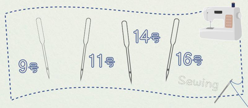 ミシン針の太さの種類4つ 適した糸の種類も
